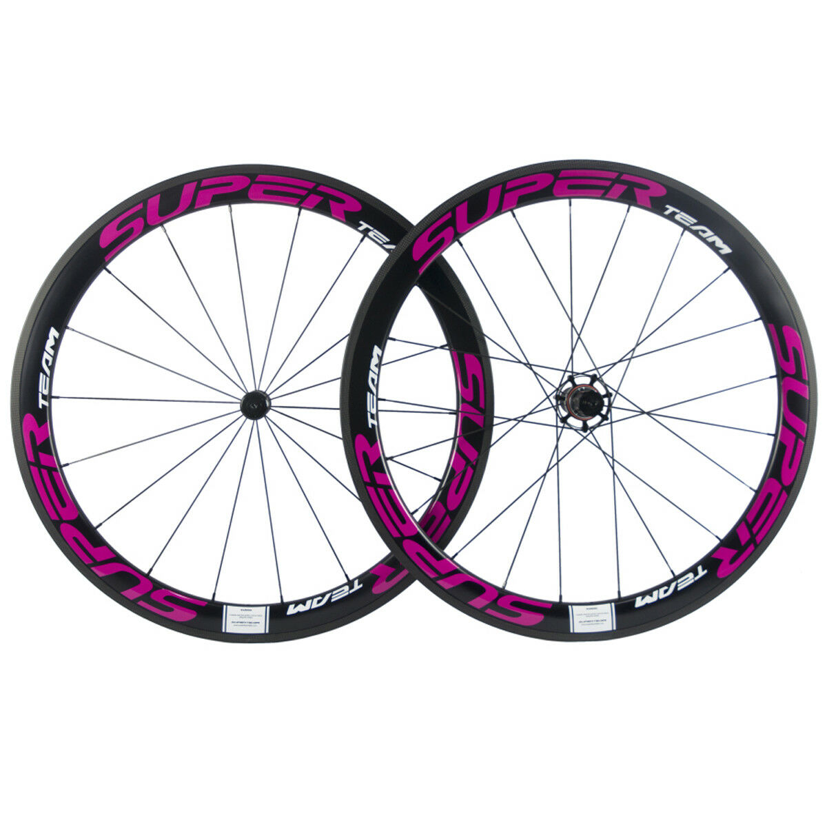 Superteam Carbon Wheels 50mm pink red  Bicycle Wheelset Road Clincher 25mm Width  for sale