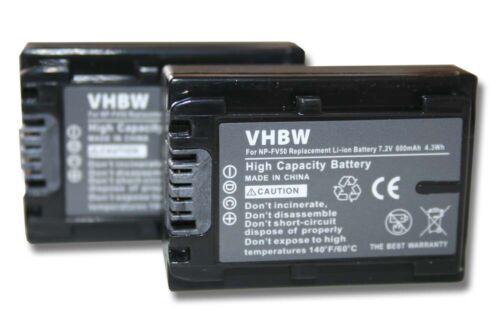 2st original VHBW ® batería 600mah para Sony handycam dcr-sx85es//hdr-cx130