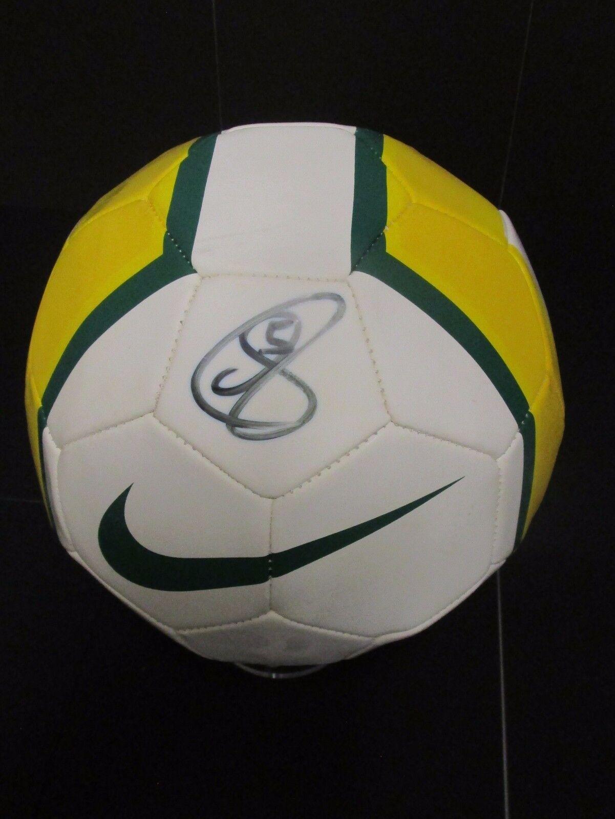 Australia-Mark negroer mano firmado Mini Milo Fútbol Fútbol + certificado certificado certificado De Autenticidad 2ee68c