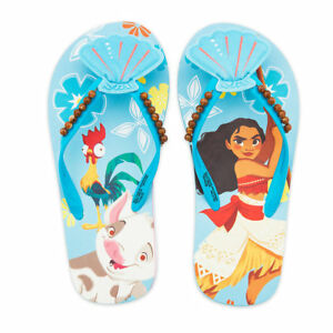 90a4c8786 Image is loading MOANA-DISNEY-PRINCESS-Girls-Flip-Flops-Beach-Sandals-