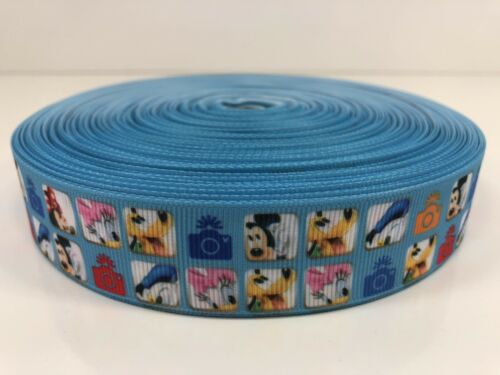 By The Yard 1 Inch Disney Characters Photos Cameras Grosgrain Ribbon Lisa