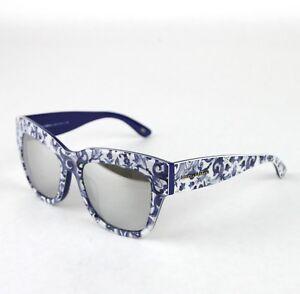 d2a2ff3a27d9 Dolce & Gabbana Cateye Almond Flowers White/Blue Sunglasses DG 4231 ...
