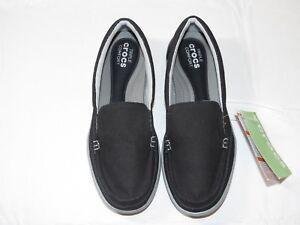 8624dd6ad9e Womens crocs standard fit Walu II Canvas loafer w black graphite ...