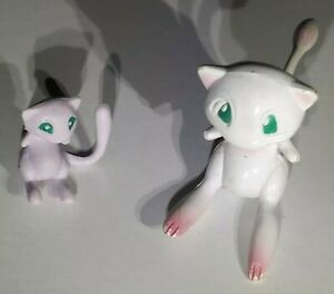 2 90s Rare MEW Old Vintage Takara TOMY Pokemon Mini Figures Toy Lot Collection