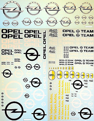 5 scales OPEL water transfer decals