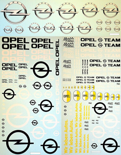 Opel #5 Sponsors New Design Sponsoren Bogen 1:18 Decal Abziehbilder