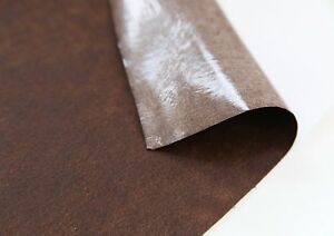 2pcs-Vintage-brown-Faux-leather-FABRIC-STICKER-SHEET-DIY-craft-self-adhesive-FH