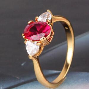 Lady-24k-Gold-Filled-Lovely-Ruby-Ring-Size-5