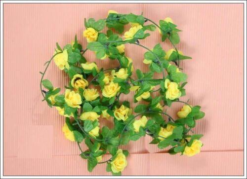 2.2M//7.2ft String Fake Artificial Flower Vine Ivy Leaf Garland Floral Home Decor