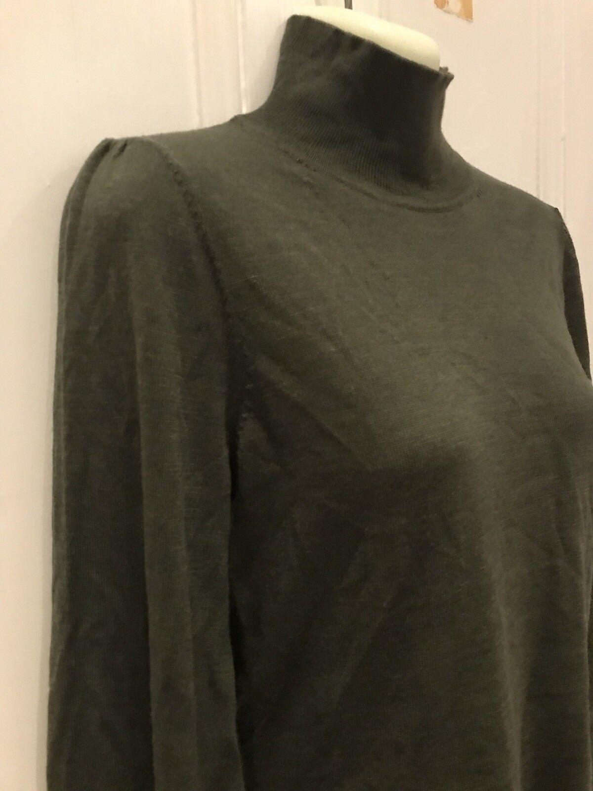 Zimmermann Jumper Merino Wool Olive Green Size AU 08  US 04 Raglan Sleeves