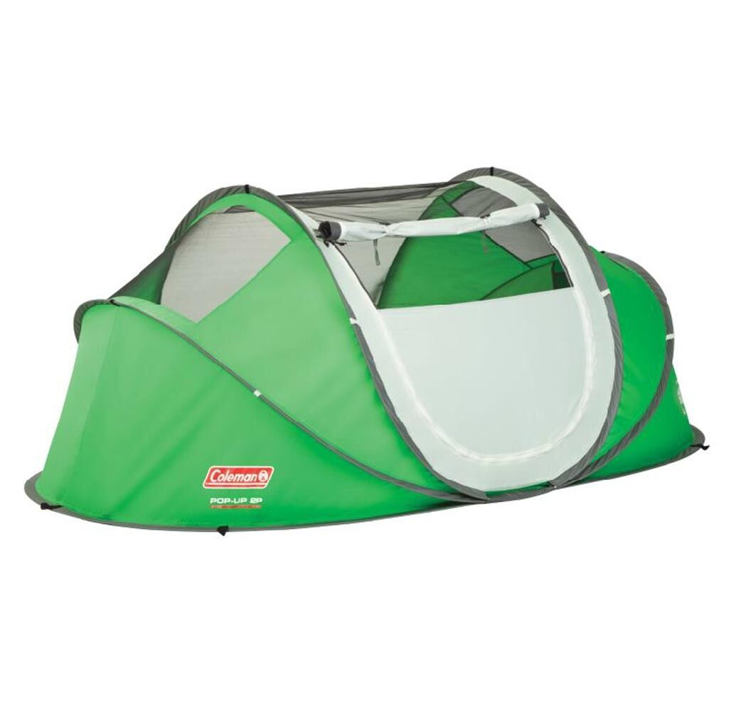 Coleman Portable 2 Person  Waterproof Pop Up Camping Tent With Taped Rainfly  fair prices