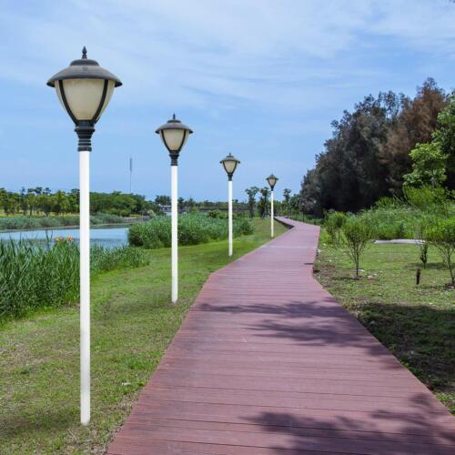 7ft Outdoor Lamp Post Long-Last Corrosion Resistant GFRP Glass Fiber Light Pole
