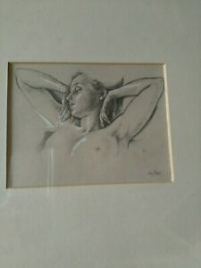 NAKED-LADY-VAN-HOVE-SIGNED-PRINT-FRAMED-Good-Condition