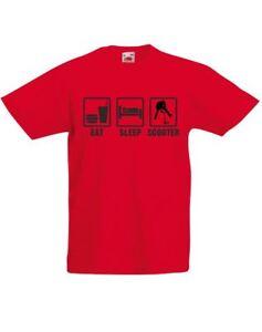 Eat-Sleep-Scooter-Kids-Printed-T-Shirt-Boys-Girls-Tshirt-Crew-Neck-Cotton-Tee