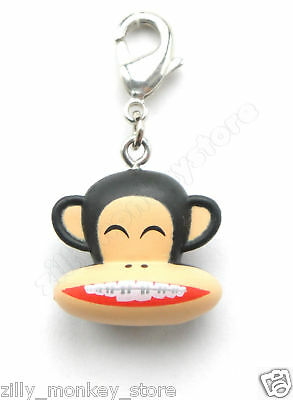 Paul Frank Braced Teeth Julius Jacket Zipper Pull Charm