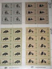 VENEZUELA 1981 Klb 2175-78 1250-53 Bicycle Locomotive old Cars Autos Zug MNH