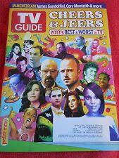 TV GUIDE DECEMBER 2013 JANUARY 2014 BEST WORST IN TV CORY MONTEITH IN MEMORIAM