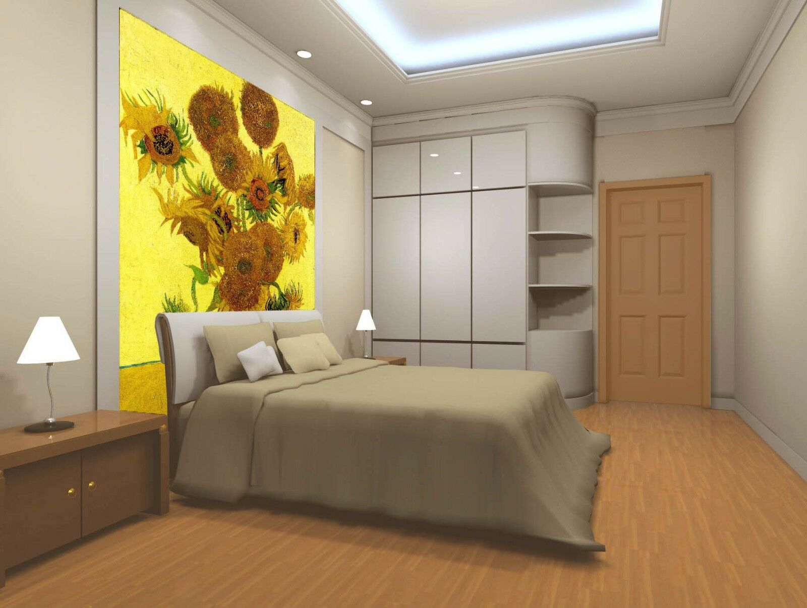 3D Sunflower 439 Wallpaper Murals Wall Print Wall Mural AJ WALL AU Summer