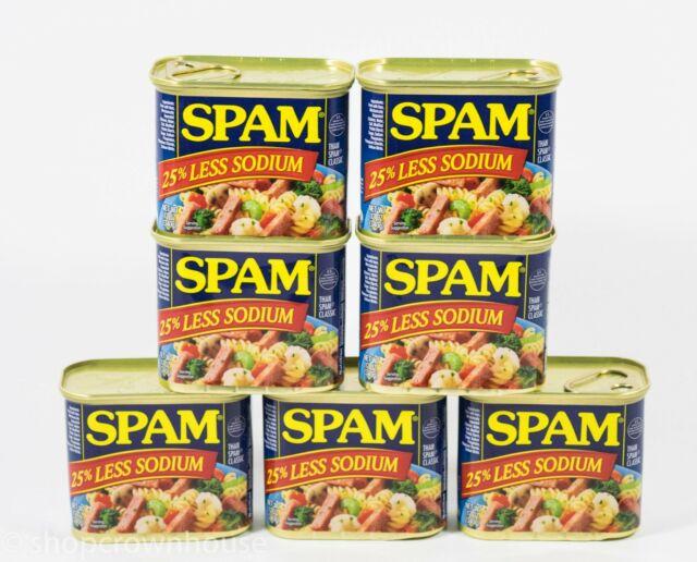7 Spam 25% Less Sodium 12 oz can 01/2023