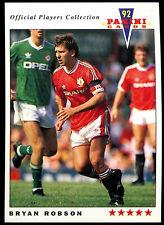 Bryan Robson Manchester United #139 Panini Football 1992 Card (C358)