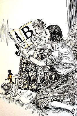 Vintage Cartoon POST GRADUATE DEGREE - MOTHERHOOD BABIES 1922 Print Matted