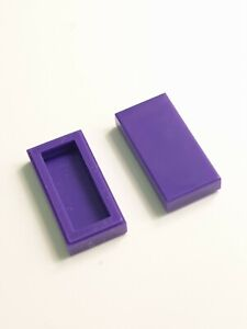 25 ×LEGO Tile plate smooth 1x2 with Groove dark purple part# 3069 NEW