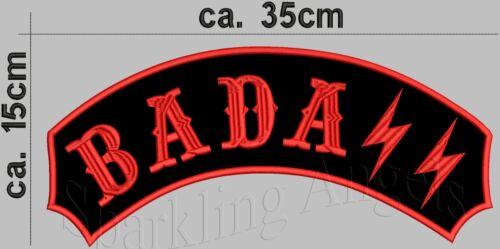BADASS   Rückenpatch Aufnäher 35x15cm
