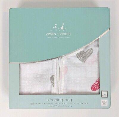 dapper 100/% cotton muslin anais sleeping bag 12-18 months stars aden by aden