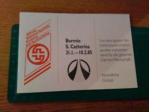 Autografo-Original-Esqui-Esquiadores-Bormio-Santa-Caterina-1985-Varios-Atleta