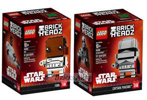 LEGO-41485-41486-Brickheadz-Star-Wars-FINN-PHASMA-Lot-of-2-New-Sealed