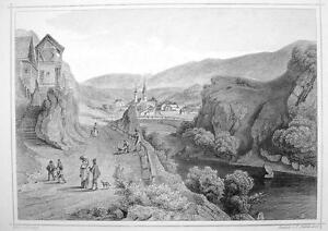 ITALY-San-Lorenzo-in-South-Tyrol-1870s-Original-Engraving-Print