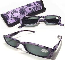 Modische Sonnenlesebrille/Sonnenbrille mit Sehstärke +2,50 Dioptrien (mit Etui)