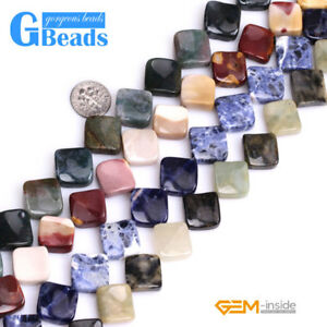 15mm-Assorted-Stones-Square-Twist-Beads-For-Jewelry-Making-Free-Shipping-15-034