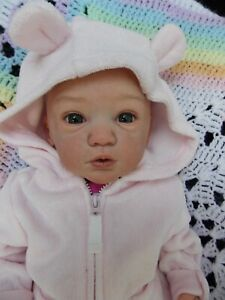 "20"" Reborn Baby Girl Doll MAIKE by GUDRUN LEGLER Gina of Heavens Breath Nursery"