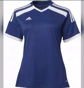 57650182e773d Adidas Soccer Training Jersey Women L Large Navy Blue White Regista ...