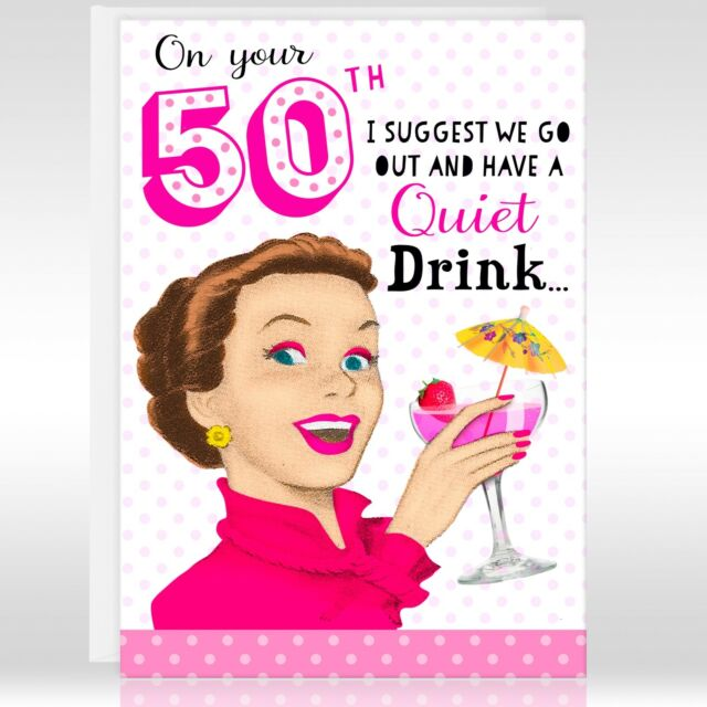 50TH FEMALE Birthday Greetings Card