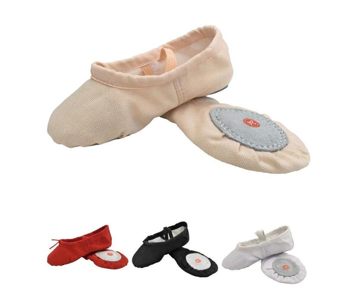 Ballet Dance Gymnastic Yoga Shoes Split Sole Pink Black White Red
