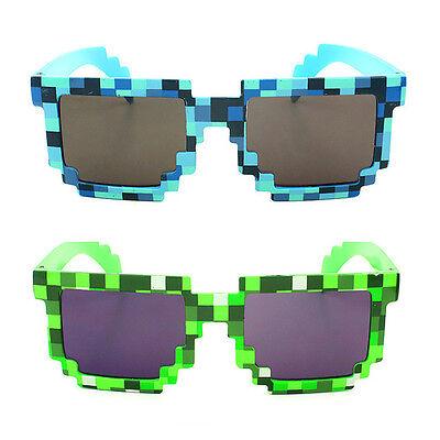 Bambini Bimbi Occhiali Da Sole Pixel Mosaico Cpu Po' Bassa Risoluzione Granulose Uv400-mostra Il Titolo Originale Originale Al 100%