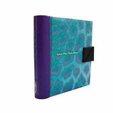 NIFTY Instax Mini & Polaroid 300 Photo Album (Turquoise/Purple Cheetah) NEW