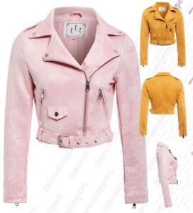 Bikerjacke damen rosa