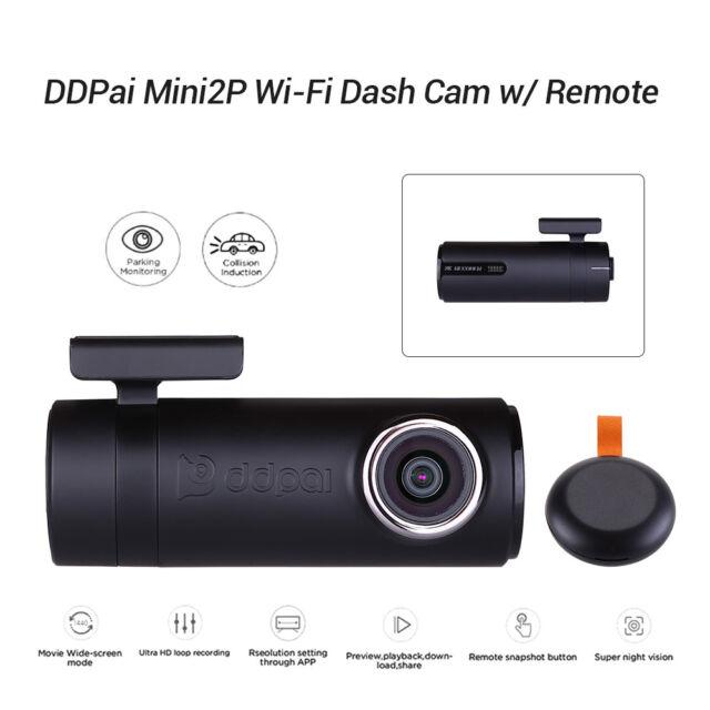 2560 x 1440p Quad HD BlackSys CH-300 2 Channel Dash cam with Wi-Fi
