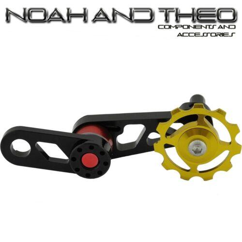 Single Speed Converter Chain Tensioner MTB Bicycle Singulator Seeker Gold Red