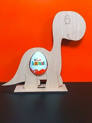 Dinosaur Free Standing Oak Or Mdf Kinder Egg Holders Wc1112 Easter/christmas Exquise (On) Vakmanschap