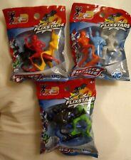 Justice League Flixstars 3 PACK LOT Batman Superman Wonder Woman Flash