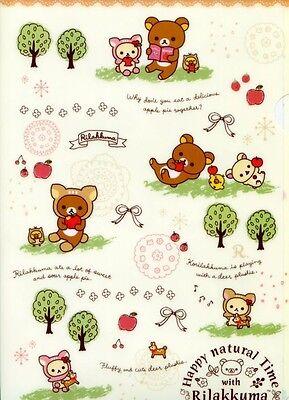 San-X Rilakkuma Relax Bear A4 Plastic File Folder #43