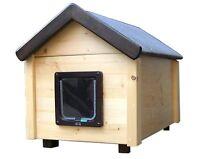 katzenhaus mit heizung voll isoliert winterfest thermovorhang katzenh tte ebay. Black Bedroom Furniture Sets. Home Design Ideas
