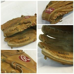 Rawlings-RBG-36-Dale-Murphy-Baseball-Mitt-LH-Thrower-Glove-13-YGI-G9-631