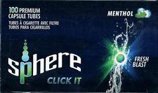 Sphere Menthol Click Hülsen Zigarettenhülsen 5x 100 Stück-Packung