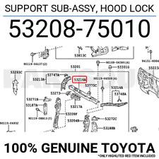 TOYOTA GENUINE 53208-75010 SUPPORT SUB-ASSY HOOD LOCK OEM
