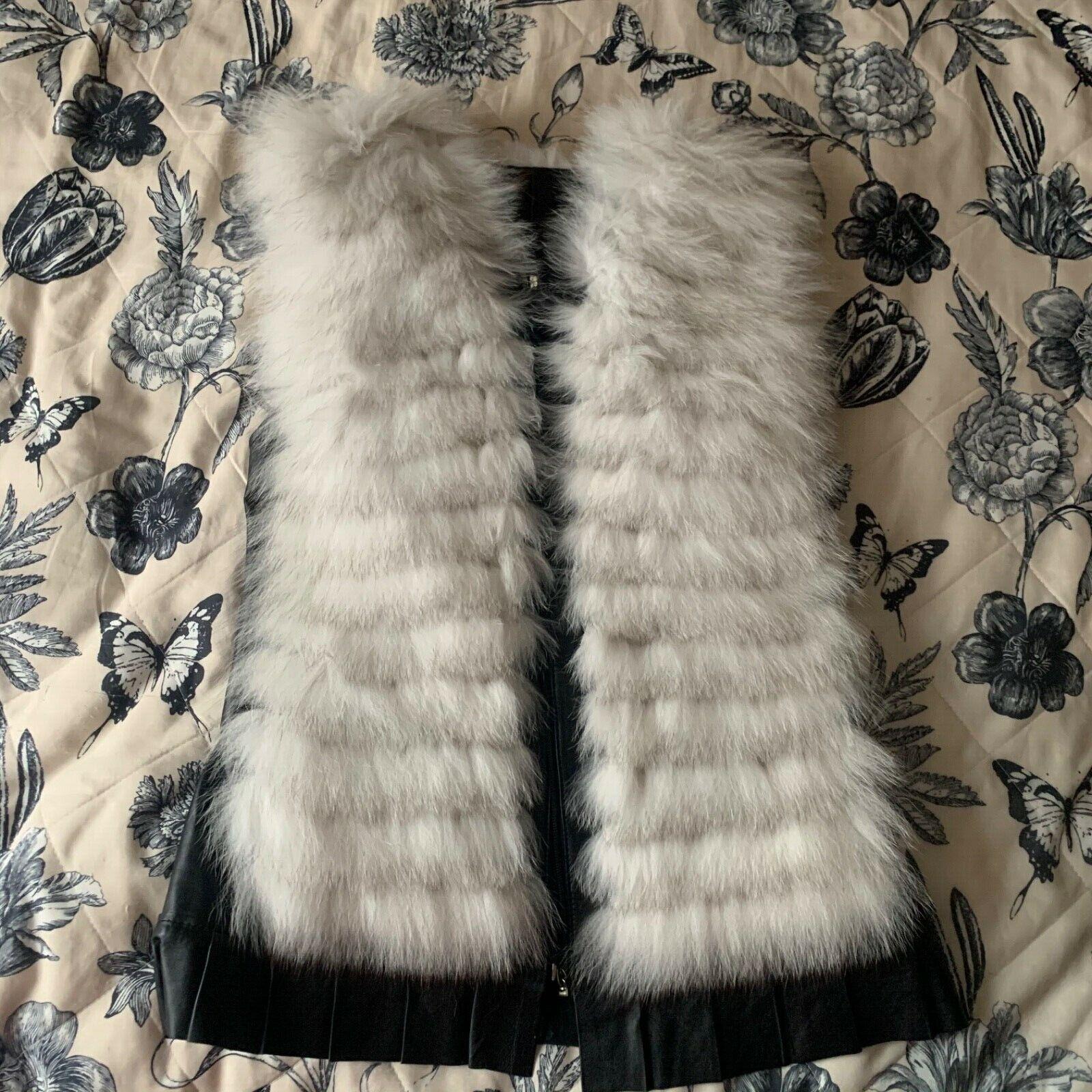 Beautiful Fox Fur Gilet, Waistcoat, Jacket.Size S. Nice Christmas gift